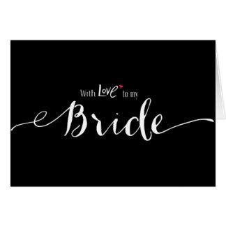 Coração vermelho com amor a meu dia do casamento cartão comemorativo
