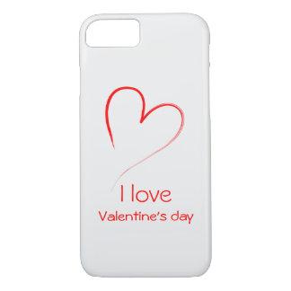 Coração vermelho - dia dos namorados do amor de I Capa iPhone 7