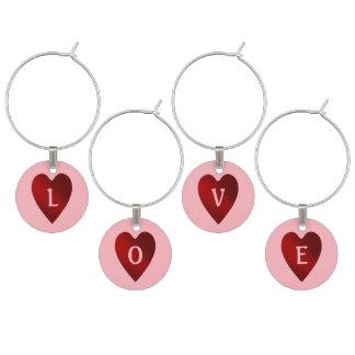 Coração vermelho e cor-de-rosa do dia dos marcadores de taças