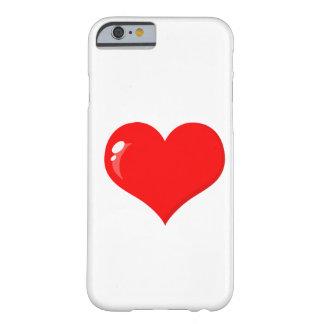 Coração vermelho grande capa iPhone 6 barely there
