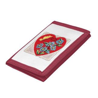 Coração vermelho retro romântico do amor do dia do