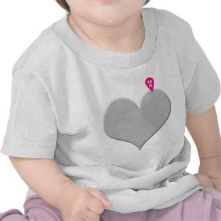 coração você está aqui - amor e dia dos namorados camiseta