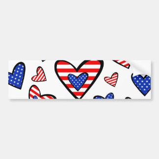 Corações americanos adesivo para carro