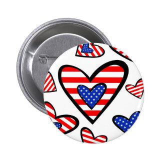 Corações americanos boton