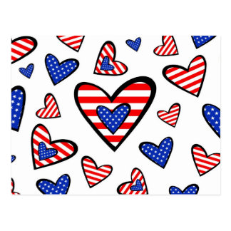 Corações americanos cartão postal