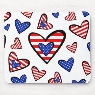 Corações americanos mousepad