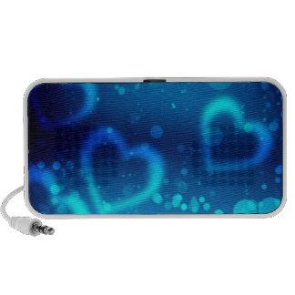 corações azuis do amor caixinha de som de viagem