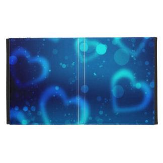 corações azuis do amor