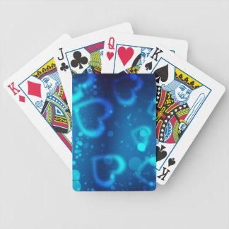 corações azuis do amor baralho de truco