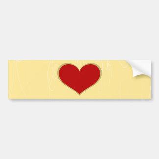 Corações bonito adesivo para carro