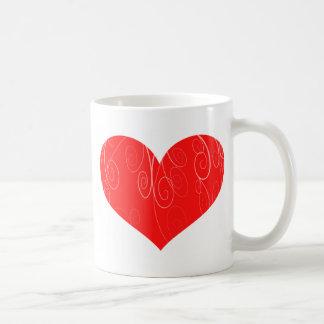 Corações bonito caneca de café