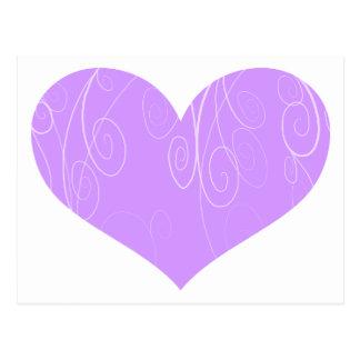 Corações bonito cartão postal