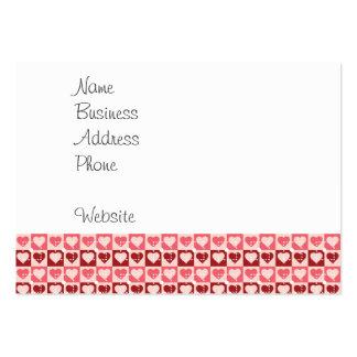 Corações bonito em presentes do dia dos namorados cartão de visita grande