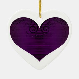 Corações bonito ornamento de cerâmica coração