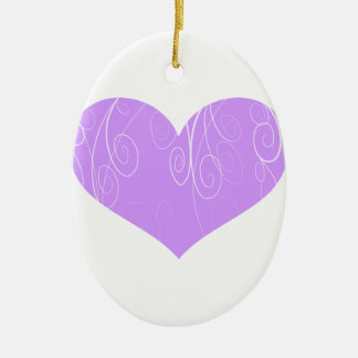 Corações bonito ornamento de cerâmica oval