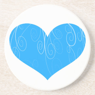 Corações bonito porta copos de arenito