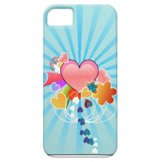 Corações bonitos iPhone 5 capa