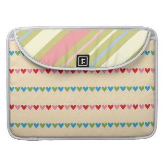 Corações bonitos bolsas MacBook pro