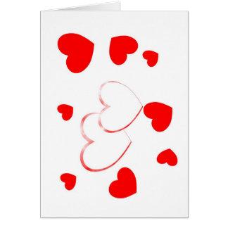 Corações bonitos - cartão