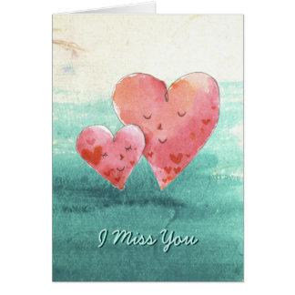 Corações bonitos do amor das belas artes - cartão comemorativo