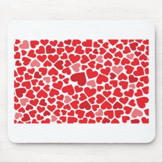 Corações bonitos mouse pad