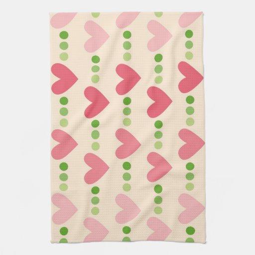 Corações bonitos toalha
