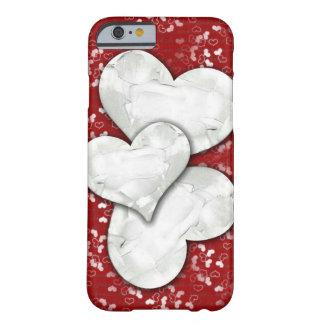 Corações brilhantes capa barely there para iPhone 6