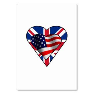 Corações britânicos da bandeira americana