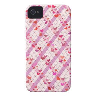 Corações coloridos iPhone 4 capas