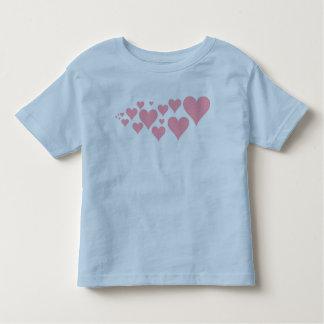 Corações cor-de-rosa bonitos camisetas