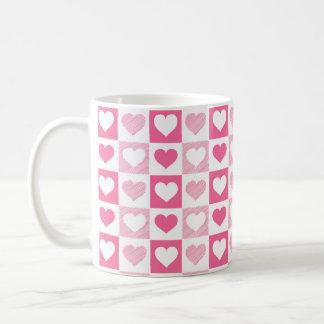 Corações cor-de-rosa bonitos caneca