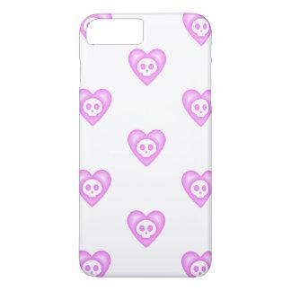 Corações cor-de-rosa bonitos capa iPhone 8 plus/7 plus