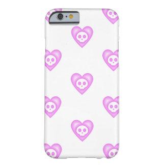 Corações cor-de-rosa bonitos capa iPhone 6 barely there