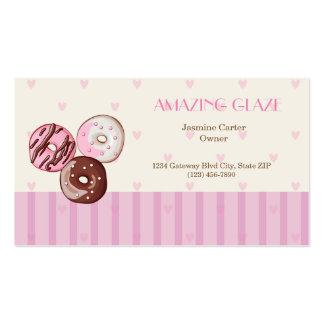 Corações cor-de-rosa bonitos do cartão de visita