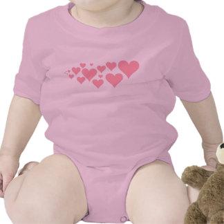 Corações cor-de-rosa bonitos babadores