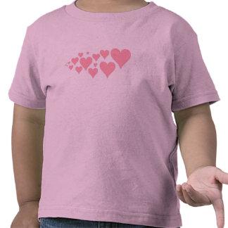 Corações cor-de-rosa bonitos tshirts