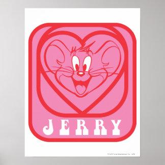 Corações cor-de-rosa de Jerry Poster