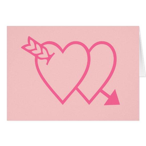 corações cor-de-rosa; dentro de: Xoxo do feliz dia Cartões