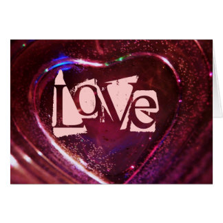 Corações cor-de-rosa do AMOR para o querido do dia Cartão Comemorativo