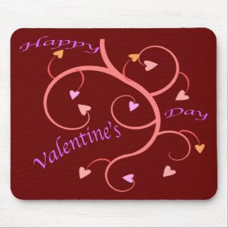 Corações cor-de-rosa do dia dos namorados mousepads