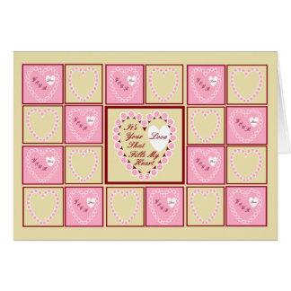 Corações cor-de-rosa, é seu cartão do dia dos namo