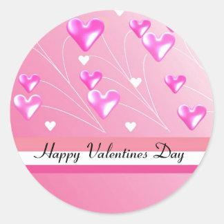 Corações cor-de-rosa para o dia dos namorados adesivo