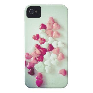 Corações corajosos dos doces da capa de telefone d capa iPhone 4