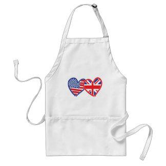 Corações da bandeira americana/bandeira de Union J Avental