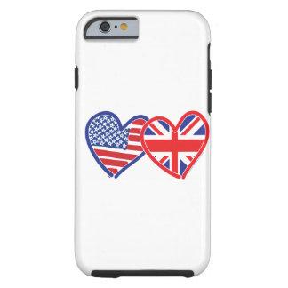 Corações da bandeira de Union Jack da bandeira Capa Tough Para iPhone 6