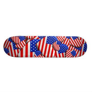 Corações da bandeira dos Estados Unidos Shape De Skate 18,4cm