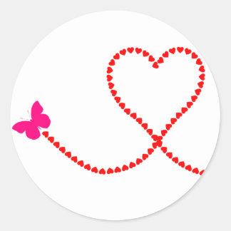 corações da borboleta adesivo