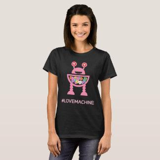 Corações da conversação da máquina do amor do dia camiseta