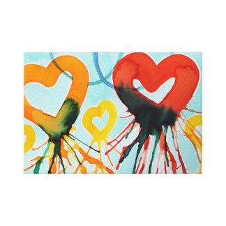 Corações da cor