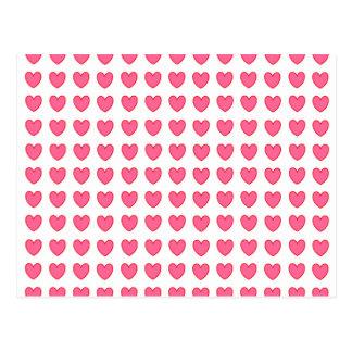 Corações da polca cartão postal